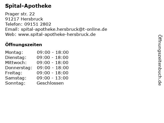 Spital-Apotheke in Hersbruck: Adresse und Öffnungszeiten