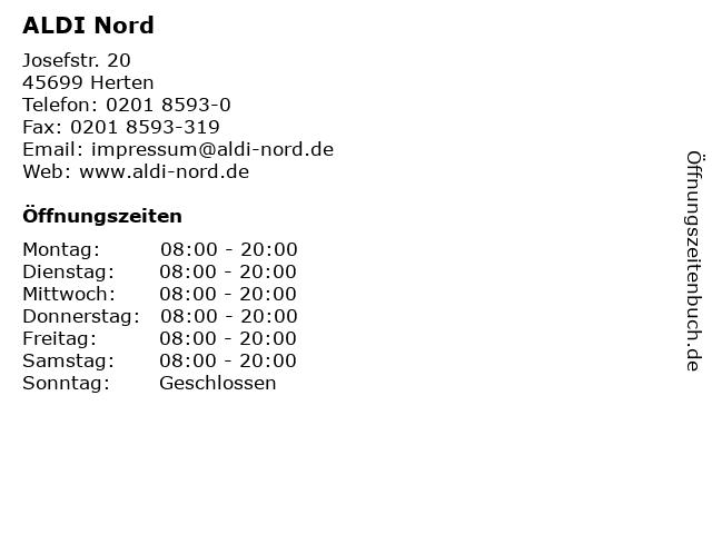 ALDI Nord in Herten: Adresse und Öffnungszeiten