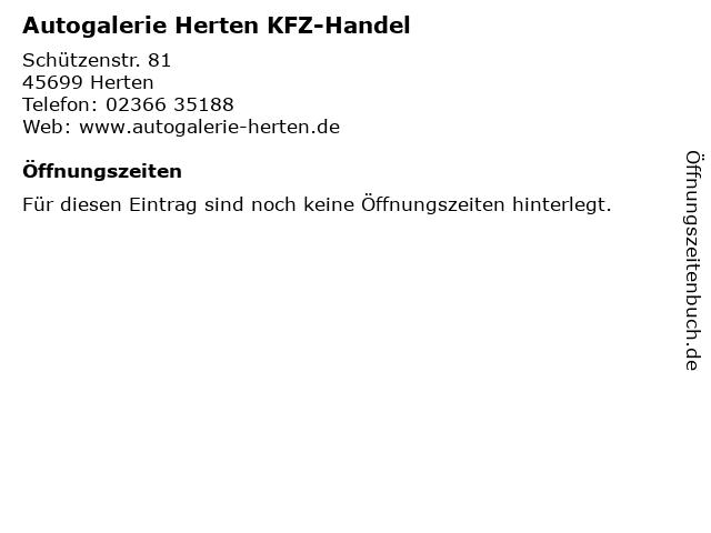 Autogalerie Herten KFZ-Handel in Herten: Adresse und Öffnungszeiten