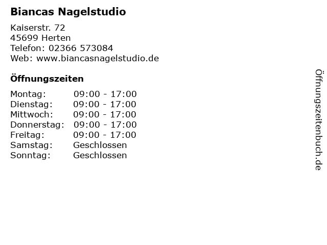 Biancas Nagelstudio in Herten: Adresse und Öffnungszeiten