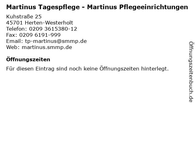 Martinus Tagespflege - Martinus Pflegeeinrichtungen in Herten-Westerholt: Adresse und Öffnungszeiten