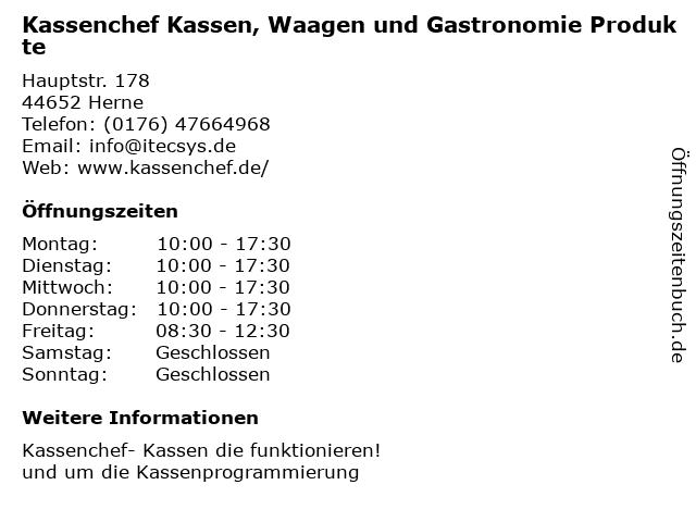 iTecSys Fatih Cetinalp in Herten: Adresse und Öffnungszeiten