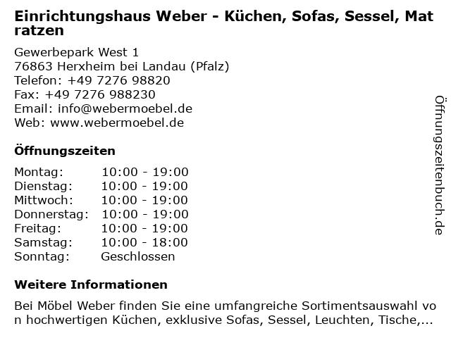 ᐅ öffnungszeiten Einrichtungshaus Weber Küchen Sofas Sessel