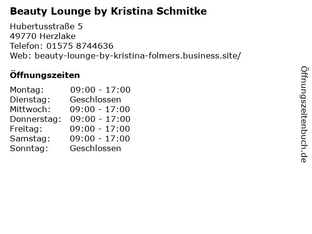 Beauty Lounge by Kristina Schmitke in Herzlake: Adresse und Öffnungszeiten