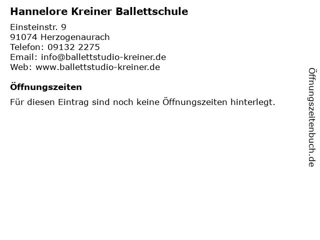 Hannelore Kreiner Ballettschule in Herzogenaurach: Adresse und Öffnungszeiten