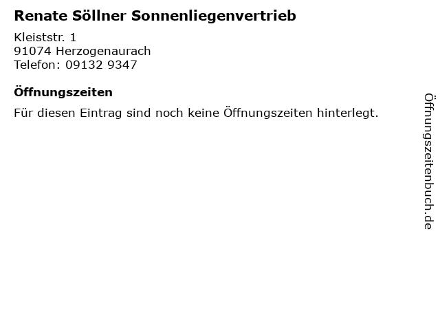 Renate Söllner Sonnenliegenvertrieb in Herzogenaurach: Adresse und Öffnungszeiten