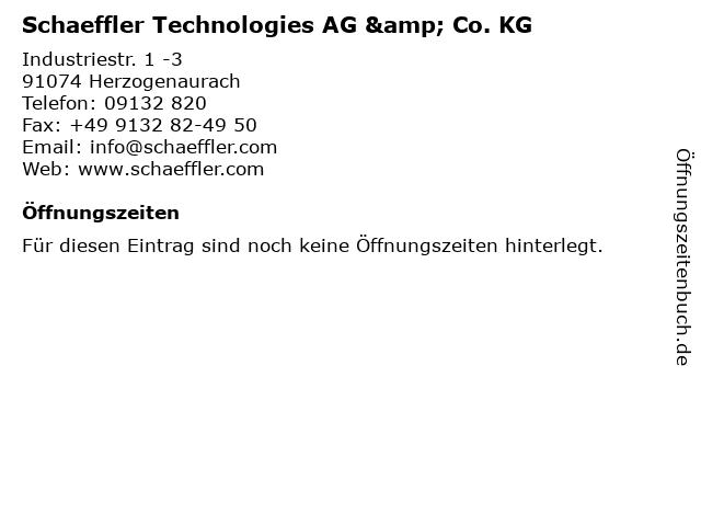 Schaeffler Technologies AG & Co. KG in Herzogenaurach: Adresse und Öffnungszeiten