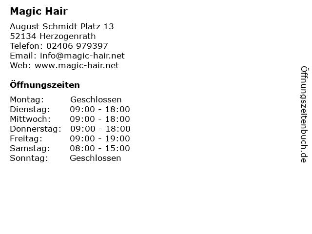 Magic Hair in Herzogenrath: Adresse und Öffnungszeiten