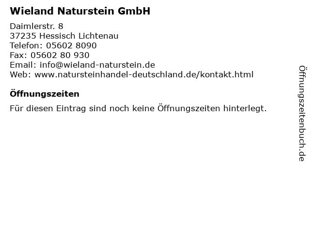 ᐅ Offnungszeiten Wieland Naturstein Gmbh Daimlerstr 8 In