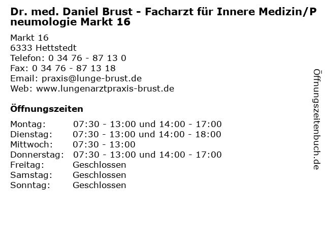 Dr. brust hettstedt