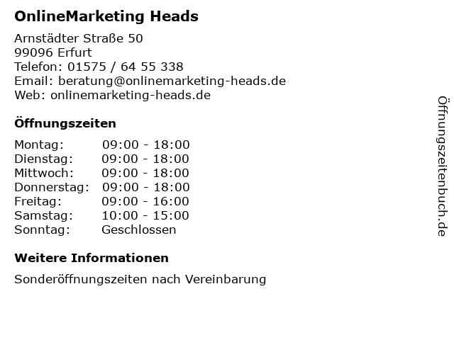 OnlineMarketing Heads in Heyerode: Adresse und Öffnungszeiten