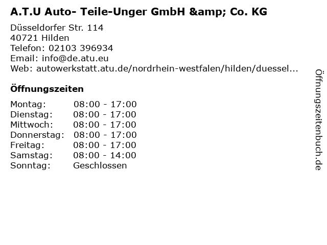 A.T.U Auto- Teile-Unger GmbH & Co. KG in Hilden: Adresse und Öffnungszeiten
