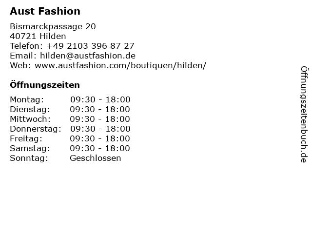 Aust Fashion in Hilden: Adresse und Öffnungszeiten
