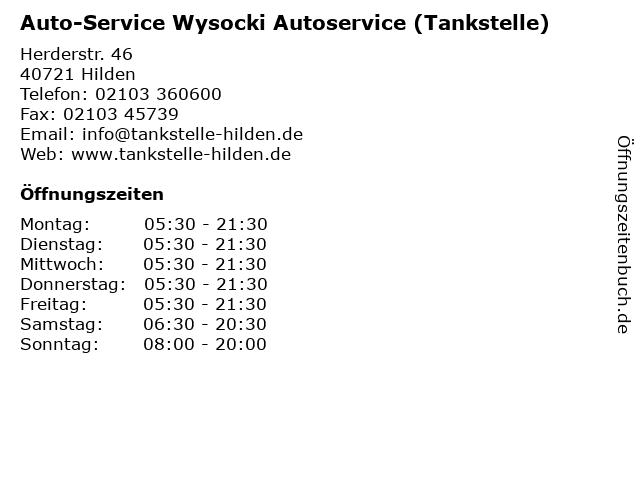 Auto-Service Wysocki Autoservice (Tankstelle) in Hilden: Adresse und Öffnungszeiten