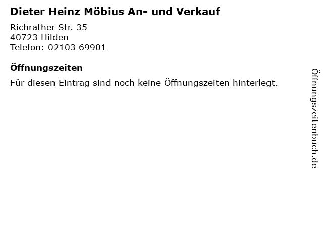 Dieter Heinz Möbius An- und Verkauf in Hilden: Adresse und Öffnungszeiten