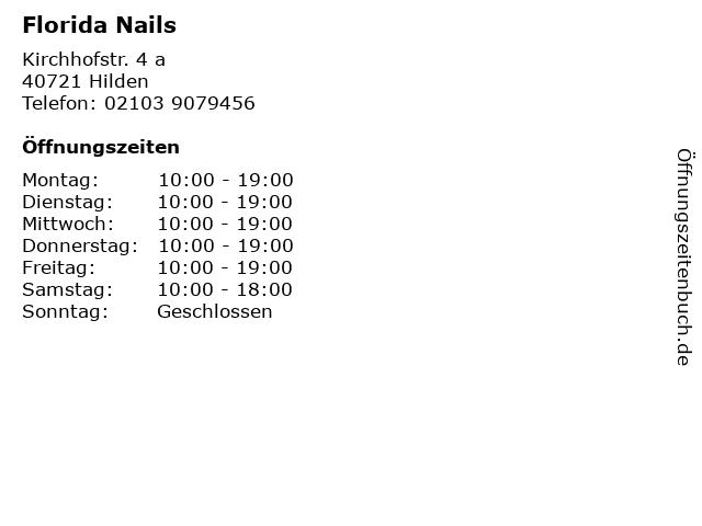 Florida Nails in Hilden: Adresse und Öffnungszeiten