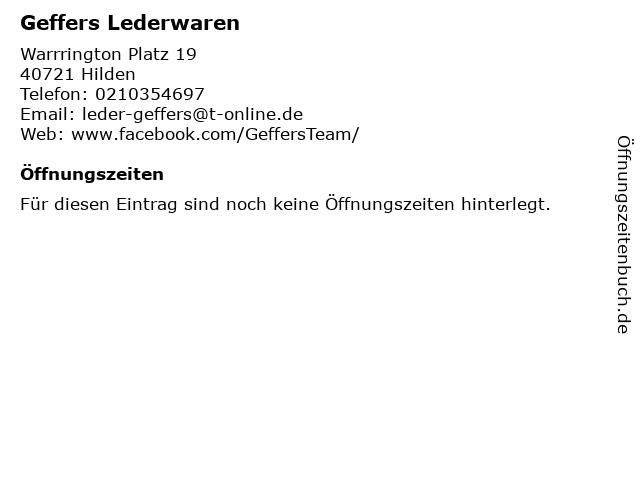 Geffers in Hilden: Adresse und Öffnungszeiten