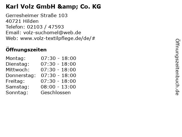 Karl Volz GmbH & Co. KG in Hilden: Adresse und Öffnungszeiten