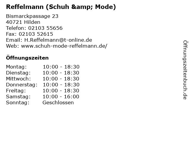Reffelmann (Schuh & Mode) in Hilden: Adresse und Öffnungszeiten