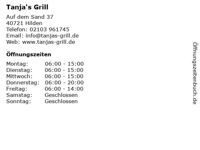 Tanja's Grill in Hilden: Adresse und Öffnungszeiten