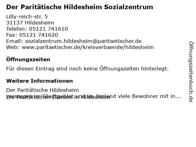 Paritätischer Wohlfahrtsverband Niedersachsen e.V. in Hildesheim: Adresse und Öffnungszeiten