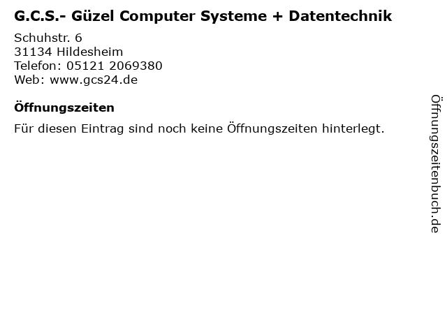 ᐅ Offnungszeiten G C S Guzel Computer Systeme Datentechnik