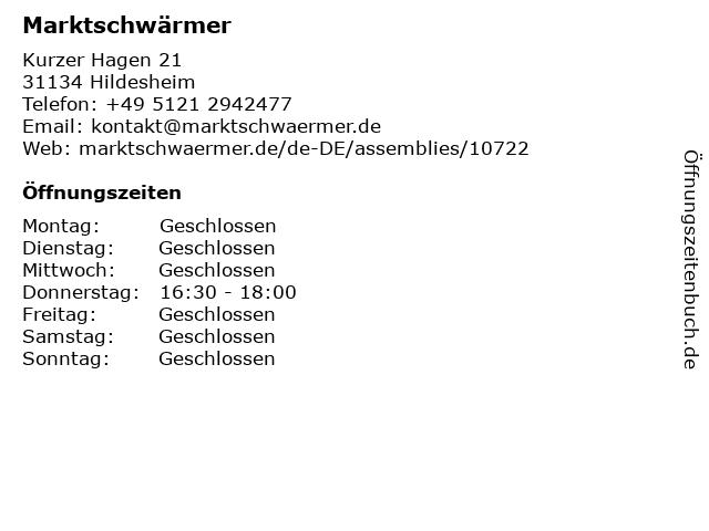 Marktschwärmer in Hildesheim: Adresse und Öffnungszeiten