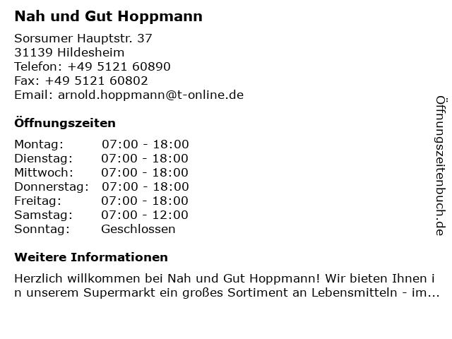 Nah und Gut Hoppmann in Hildesheim: Adresse und Öffnungszeiten