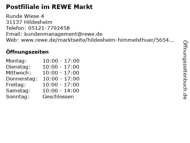 Postfiliale im REWE Markt in Hildesheim: Adresse und Öffnungszeiten