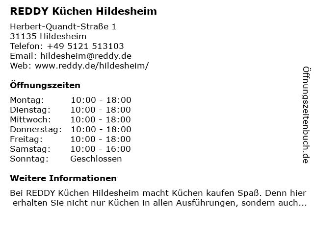 ᐅ Offnungszeiten Reddy Kuchen Hildesheim Herbert Quandt Strasse