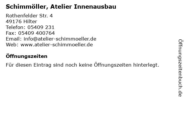Schimmöller, Atelier Innenausbau in Hilter: Adresse und Öffnungszeiten