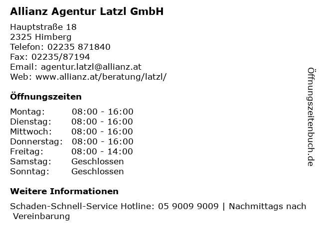 Allianz Agentur Latzl GmbH in Himberg: Adresse und Öffnungszeiten