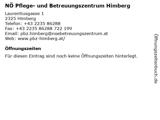 Á… Offnungszeiten No Pflege Und Betreuungszentrum Himberg Laurentiusgasse 1 In Himberg
