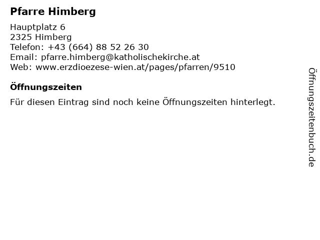 Pfarre Himberg in Himberg: Adresse und Öffnungszeiten
