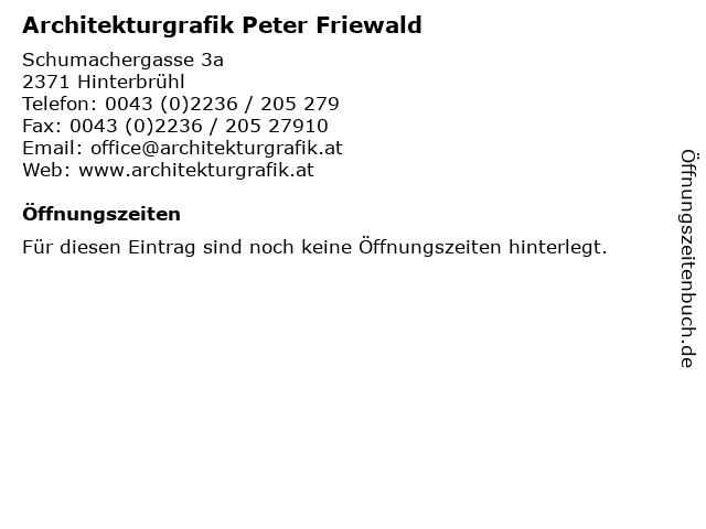 Architekturgrafik Peter Friewald in Hinterbrühl: Adresse und Öffnungszeiten