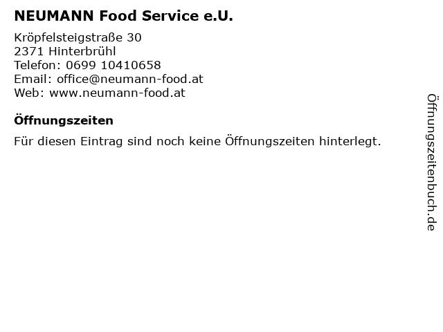 NEUMANN Food Service e.U. in Hinterbrühl: Adresse und Öffnungszeiten