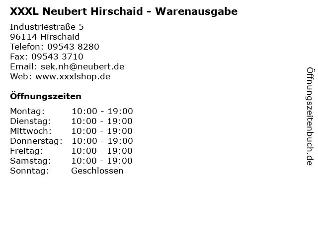ᐅ öffnungszeiten Xxxl Neubert Hirschaid Warenausgabe