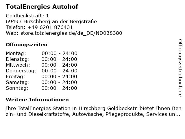 TotalEnergies Autohof in Hirschberg an der Bergstraße: Adresse und Öffnungszeiten