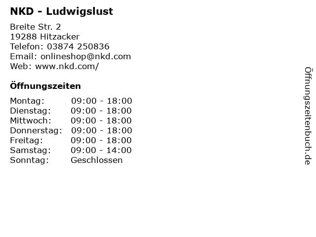 NKD - Ludwigslust in Hitzacker: Adresse und Öffnungszeiten