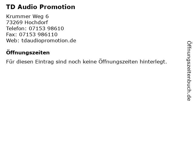 TD Audio Promotion in Hochdorf: Adresse und Öffnungszeiten