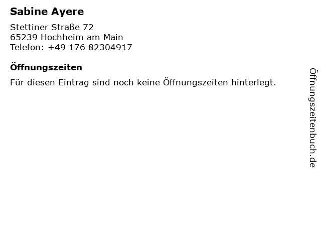 Sabine Ayere in Hochheim am Main: Adresse und Öffnungszeiten