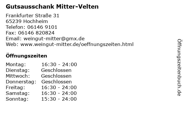 Gutsausschank Mitter-Velten in Hochheim: Adresse und Öffnungszeiten