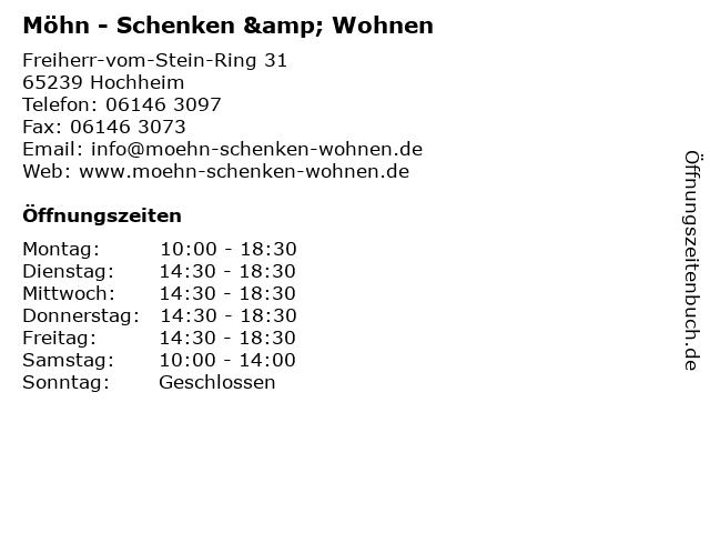 Möhn - Schenken & Wohnen in Hochheim: Adresse und Öffnungszeiten