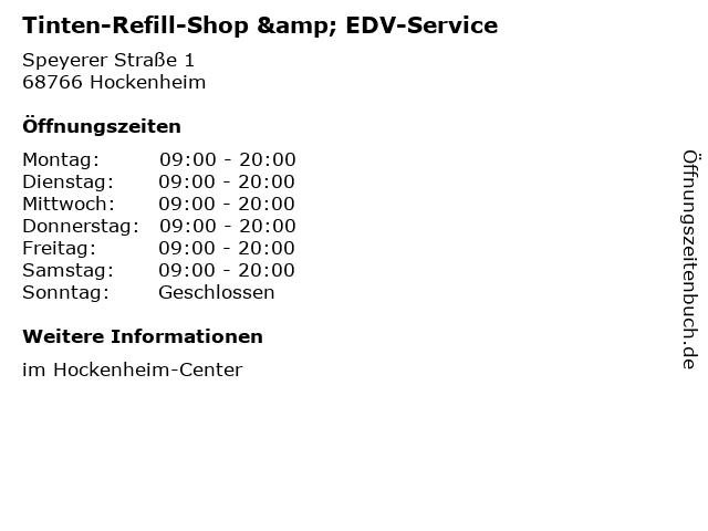 Tinten-Refill-Shop & EDV-Service in Hockenheim: Adresse und Öffnungszeiten