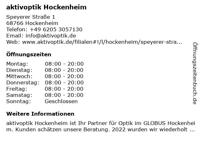aktivoptik in Hockenheim: Adresse und Öffnungszeiten