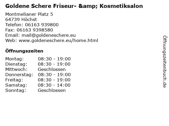 Goldene Schere Friseur- & Kosmetiksalon in Höchst: Adresse und Öffnungszeiten