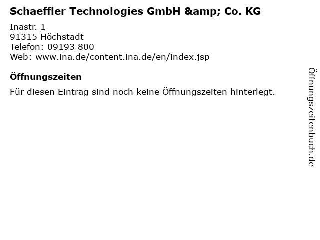 Schaeffler Technologies GmbH & Co. KG in Höchstadt: Adresse und Öffnungszeiten