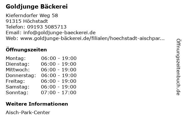 goldjunge GmbH in Höchstadt: Adresse und Öffnungszeiten