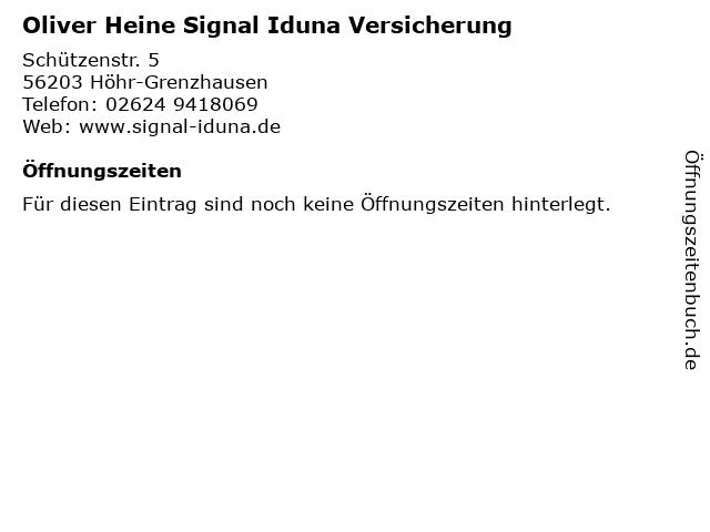 Oliver Heine Signal Iduna Versicherung in Höhr-Grenzhausen: Adresse und Öffnungszeiten