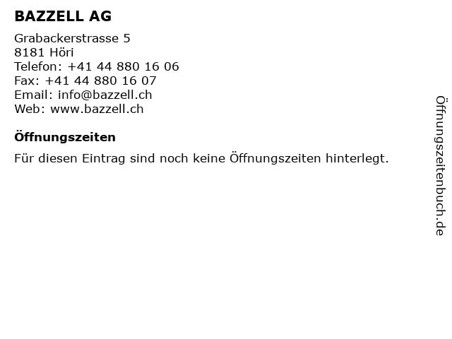 BAZZELL AG in Höri: Adresse und Öffnungszeiten